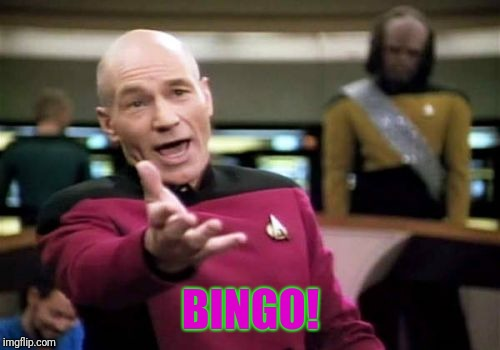Picard Wtf Meme | BINGO! | image tagged in memes,picard wtf | made w/ Imgflip meme maker