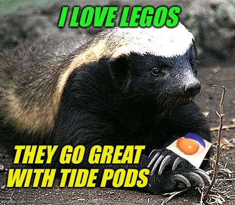 I LOVE LEGOS THEY GO GREAT WITH TIDE PODS | made w/ Imgflip meme maker