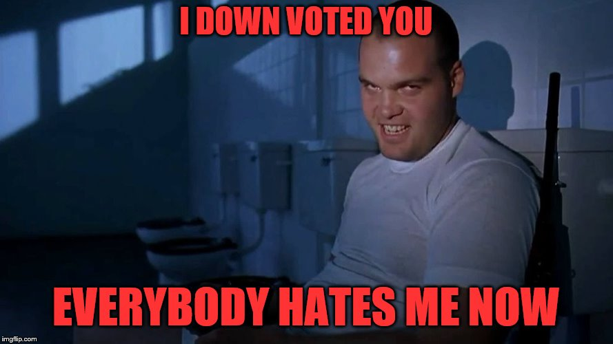 I DOWN VOTED YOU EVERYBODY HATES ME NOW | made w/ Imgflip meme maker