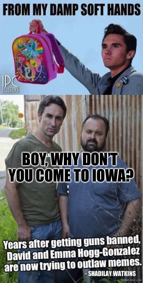 Congressional Page From CA David  | BOY, WHY DON'T YOU COME TO IOWA? | image tagged in david hogg,cucks,red pill,iowa,iowa caucus,parkland | made w/ Imgflip meme maker