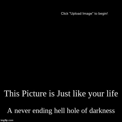 How 2 roast imgflip users 2 | This Picture is Just like your life | A never ending hell hole of darkness | image tagged in funny,demotivationals | made w/ Imgflip demotivational maker