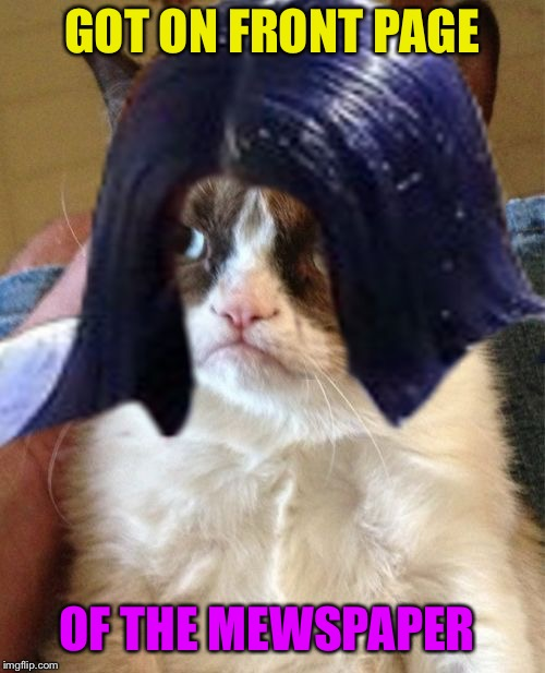 Grumpy Mima | GOT ON FRONT PAGE OF THE MEWSPAPER | image tagged in grumpy mima | made w/ Imgflip meme maker