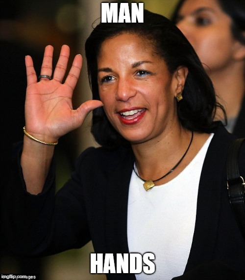 Pass the lobster. |  MAN; HANDS | image tagged in susan rice,man hands,seinfeld | made w/ Imgflip meme maker