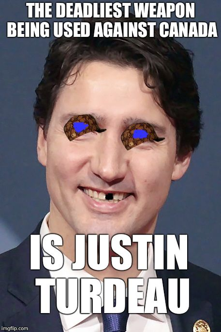 THE DEADLIEST WEAPON BEING USED AGAINST CANADA IS JUSTIN TURDEAU | made w/ Imgflip meme maker