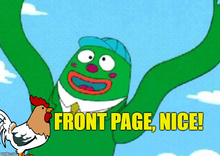 FRONT PAGE, NICE! | made w/ Imgflip meme maker