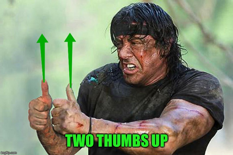 Two Thumbs Up Vote | TWO THUMBS UP | image tagged in two thumbs up vote | made w/ Imgflip meme maker