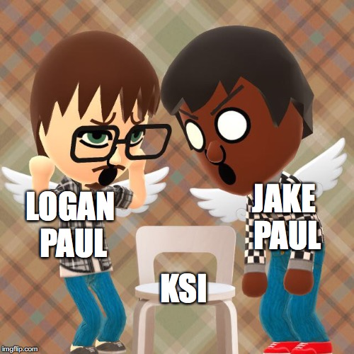LOGAN PAUL JAKE PAUL KSI | image tagged in offensive chair | made w/ Imgflip meme maker