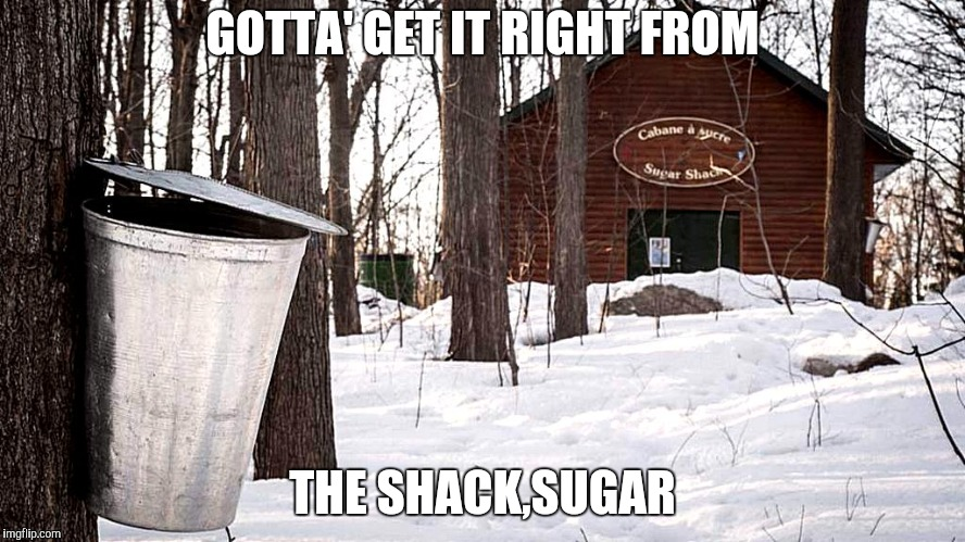GOTTA' GET IT RIGHT FROM THE SHACK,SUGAR | made w/ Imgflip meme maker