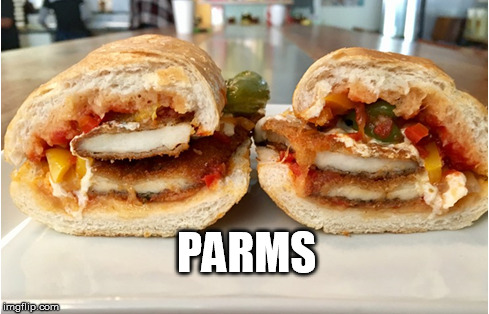 PARMS | image tagged in softwa,sandwich | made w/ Imgflip meme maker