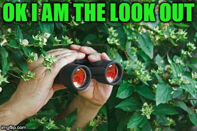 OK I AM THE LOOK OUT | made w/ Imgflip meme maker
