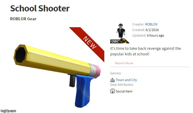 Rlly Roblox?! | image tagged in roblox,nsfw,guns,school,messed up,15 | made w/ Imgflip meme maker