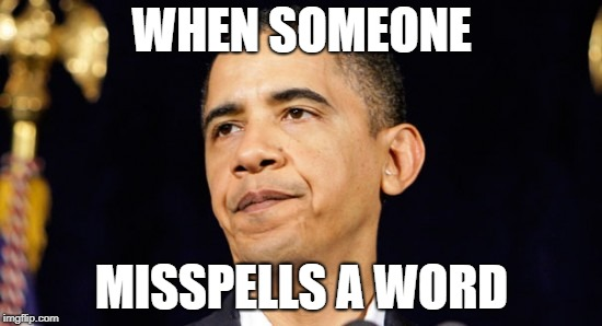 When Someone Misspells a Word | WHEN SOMEONE MISSPELLS A WORD | image tagged in annoyed | made w/ Imgflip meme maker