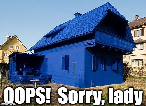 OOPS!  Sorry, lady | made w/ Imgflip meme maker