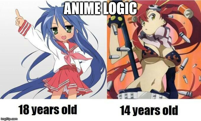 ANIME LOGIC | made w/ Imgflip meme maker
