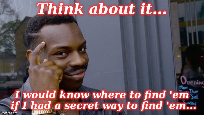 Roll Safe Think About It Meme | Think about it... I would know where to find 'em if I had a secret way to find 'em... | image tagged in memes,roll safe think about it | made w/ Imgflip meme maker