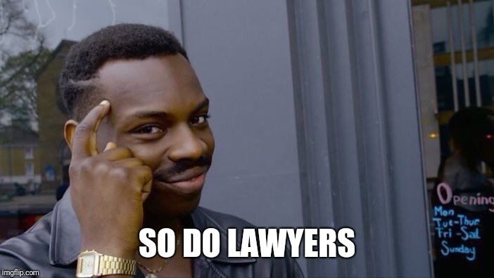Roll Safe Think About It Meme | SO DO LAWYERS | image tagged in memes,roll safe think about it | made w/ Imgflip meme maker