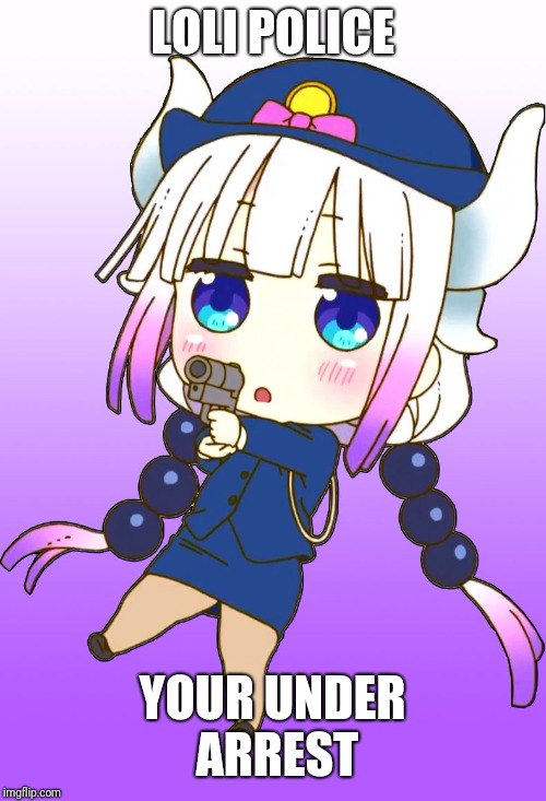 Loli police  | LOLI POLICE YOUR UNDER ARREST | image tagged in loli | made w/ Imgflip meme maker