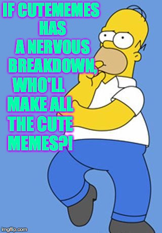 IF CUTEMEMES HAS A NERVOUS BREAKDOWN, WHO'LL MAKE ALL THE CUTE MEMES?! | made w/ Imgflip meme maker