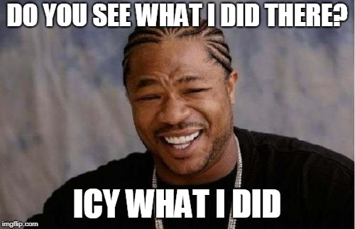 Yo Dawg Heard You Meme | DO YOU SEE WHAT I DID THERE? ICY WHAT I DID | image tagged in memes,yo dawg heard you | made w/ Imgflip meme maker