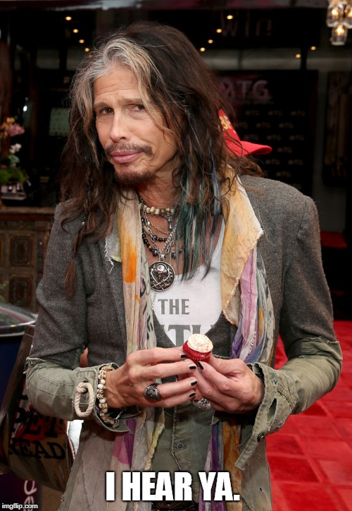 Steven Tyler | I HEAR YA. | image tagged in steven tyler | made w/ Imgflip meme maker