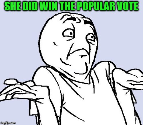SHE DID WIN THE POPULAR VOTE | made w/ Imgflip meme maker
