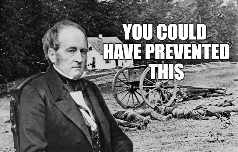 Should have voted for John Bell | YOU COULD HAVE PREVENTED THIS | image tagged in american politics,american civil war,civil war,union,united states of america,president | made w/ Imgflip meme maker