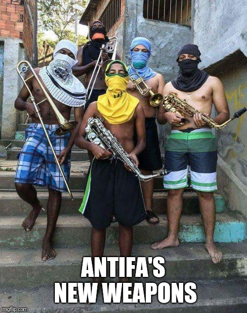 Take Notes | ANTIFA'S NEW WEAPONS | image tagged in instruments,antifa | made w/ Imgflip meme maker