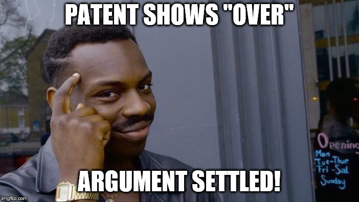 "Roll Safe Think About It Meme | PATENT SHOWS ""OVER"" ARGUMENT SETTLED! 