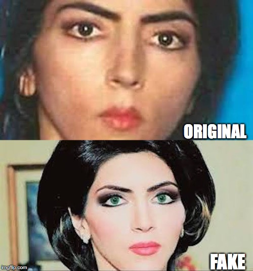 Photoshopping Of Nasim Afgham Image For Fake News | ORIGINAL FAKE | image tagged in fake news,racism,photoshop,shooter | made w/ Imgflip meme maker