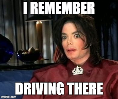 Spooked Spooky MJ | I REMEMBER DRIVING THERE | image tagged in uh oh mj,surprised koala | made w/ Imgflip meme maker