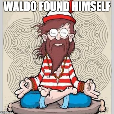 you could say that | WALDO FOUND HIMSELF | image tagged in where's waldo | made w/ Imgflip meme maker