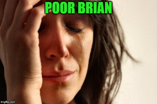 First World Problems Meme | POOR BRIAN | image tagged in memes,first world problems | made w/ Imgflip meme maker