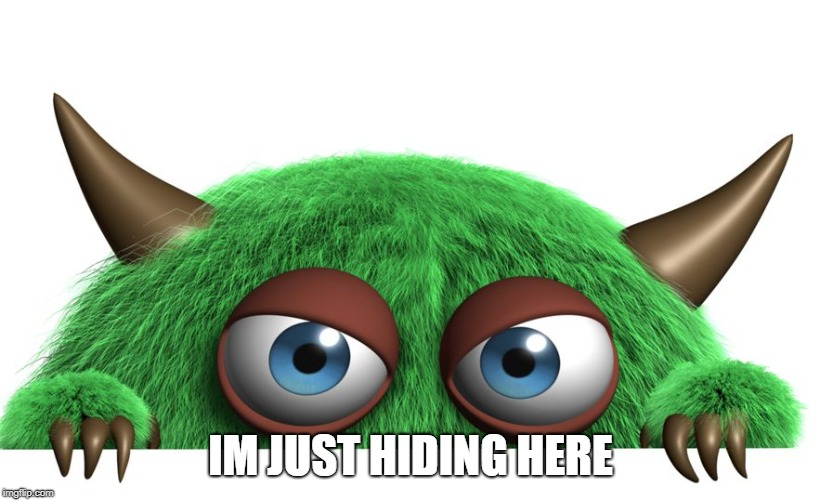 troll | IM JUST HIDING HERE | image tagged in troll | made w/ Imgflip meme maker
