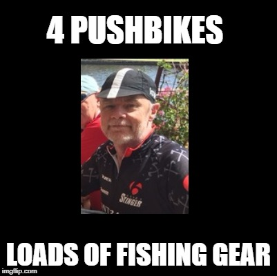 4 PUSHBIKES LOADS OF FISHING GEAR | made w/ Imgflip meme maker