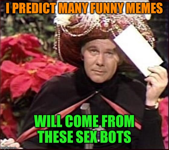 I PREDICT MANY FUNNY MEMES WILL COME FROM THESE SEX BOTS | made w/ Imgflip meme maker