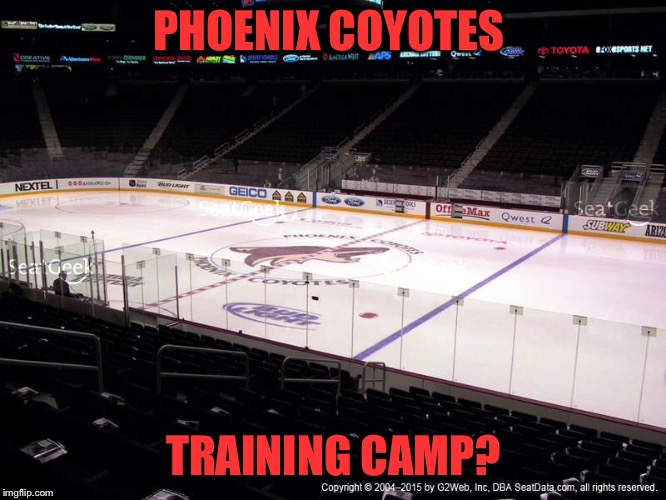 PHOENIX COYOTES TRAINING CAMP? | made w/ Imgflip meme maker