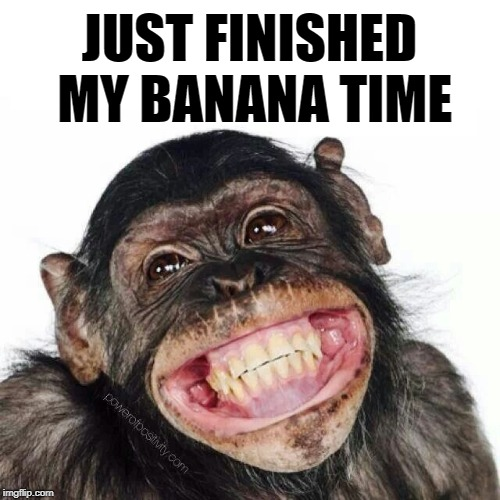 JUST FINISHED MY BANANA TIME | made w/ Imgflip meme maker