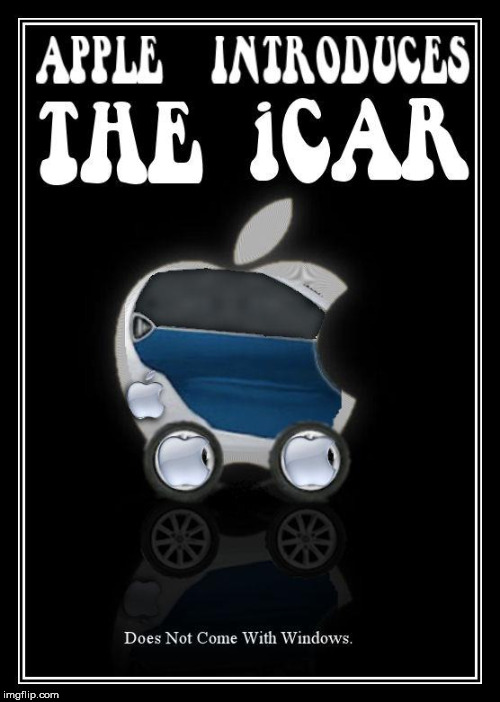 It can't be real news. I made this 12 years ago. | APPLE INTRODUCES THE ICAR DOES NOT COME WITH WINDOWS | image tagged in apple,automobile,technology,bad pun | made w/ Imgflip meme maker