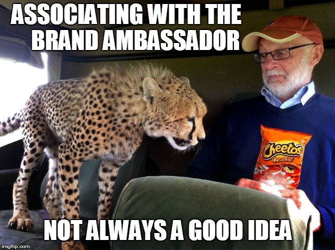 Product Spokes...er...men, | ASSOCIATING WITH THE    BRAND AMBASSADOR NOT ALWAYS A GOOD IDEA | image tagged in food | made w/ Imgflip meme maker