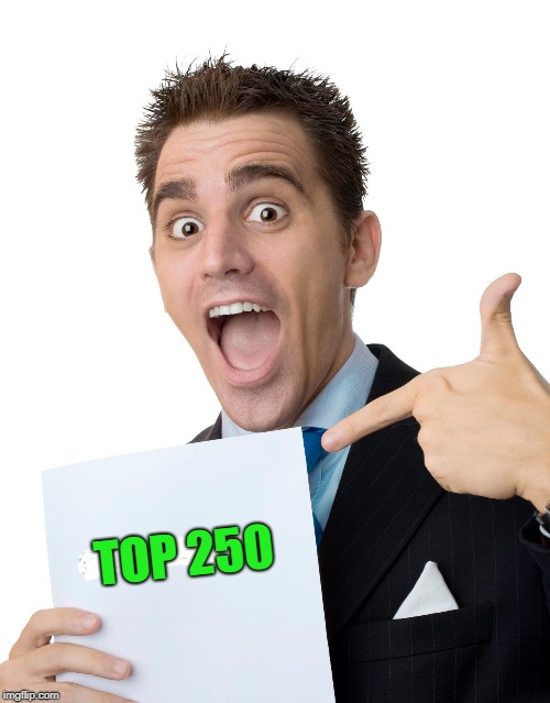 TOP 250 | made w/ Imgflip meme maker
