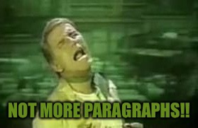NOT MORE PARAGRAPHS!! | made w/ Imgflip meme maker