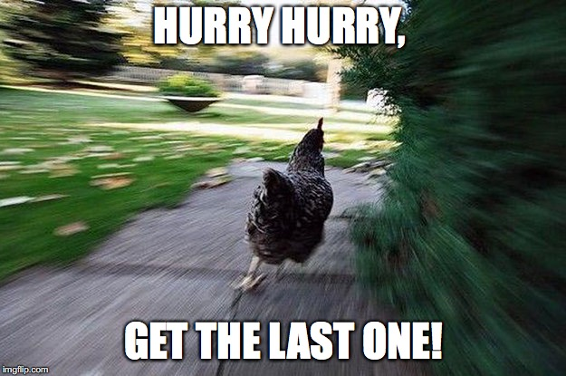 HURRY HURRY, GET THE LAST ONE! | made w/ Imgflip meme maker