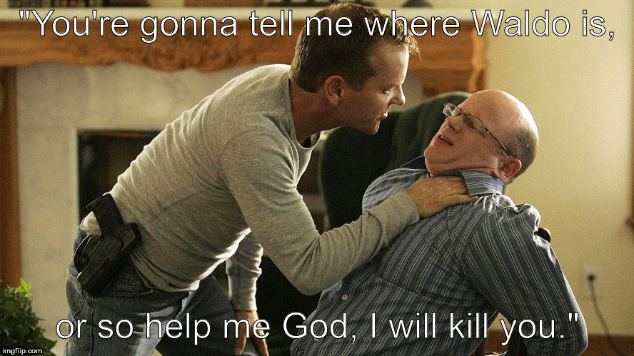 "Jack Bauer interrogating a retired 50-year-old Odlaw (Extract from 24 Season 10) | ""You're gonna tell me where Waldo is, or so help me God, I will kill you."" 
