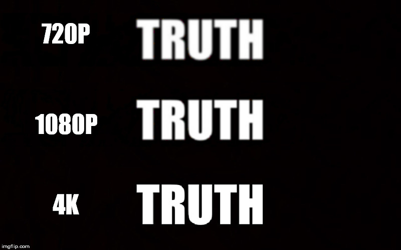 Definitions of truth... | 720P 1080P 4K | image tagged in truth | made w/ Imgflip meme maker