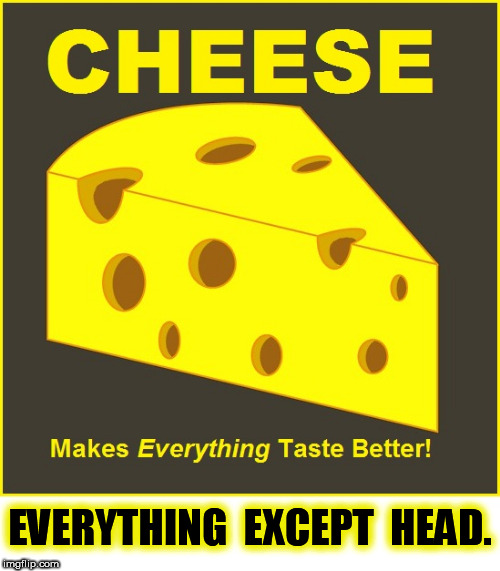 Head Cheese | EVERYTHING  EXCEPT  HEAD. | image tagged in head,cheese,head cheese | made w/ Imgflip meme maker