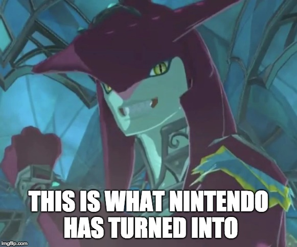 Tanks a lot | THIS IS WHAT NINTENDO HAS TURNED INTO | image tagged in hue hue,sidon,my poor life | made w/ Imgflip meme maker