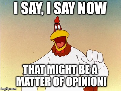 I SAY, I SAY NOW THAT MIGHT BE A MATTER OF OPINION! | made w/ Imgflip meme maker