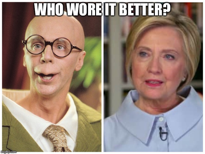 Who Wore it Better | WHO WORE IT BETTER? | image tagged in hillary clinton,hillary,clinton,master,disguise,turtle | made w/ Imgflip meme maker