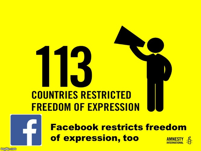 113 Countries & facebook | image tagged in facebook,freedom of expression,media bias | made w/ Imgflip meme maker