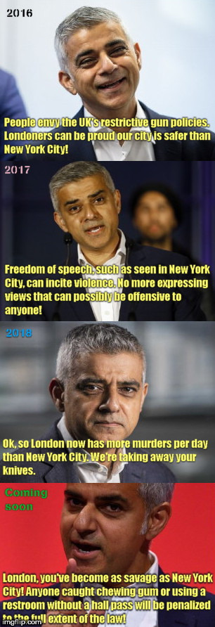 image tagged in chewing gum andthe wrath of khan,london mayor,sadiq khan,violence,big brother | made w/ Imgflip meme maker